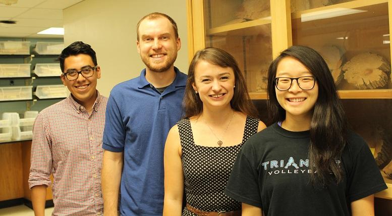 CTRES student researchers (l-r): Manny Hernandez, Matt Dannenberg, Karly Schmidt, and Jocelyn Keung.